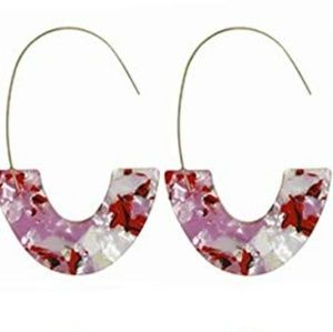 Jewelry - Bundle of 2 Mottled Acrylic Earrings